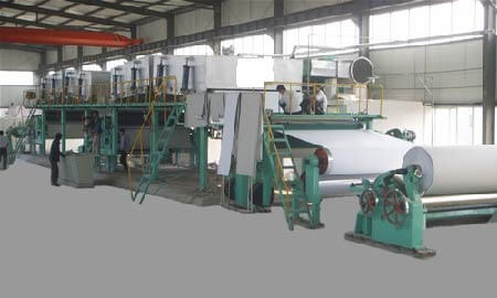 Carbon Less paper machine
